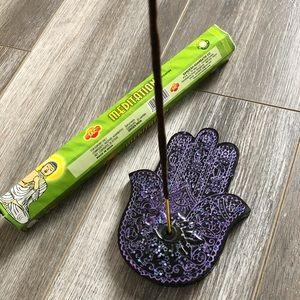 Handmade Incense Holder / Hamsa Hand